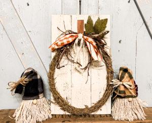 Dollar Tree Grapevine Wreath Pumpkin DIY