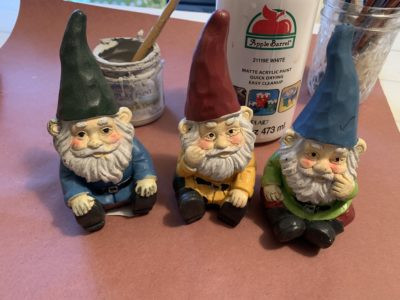 Painted Dollar Tree Gnomes