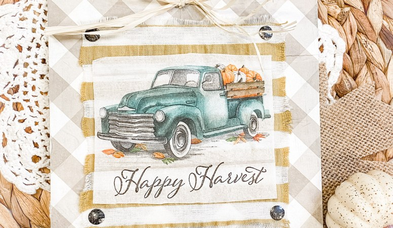 Dollar Tree DIY Fall Vintage Truck Decor