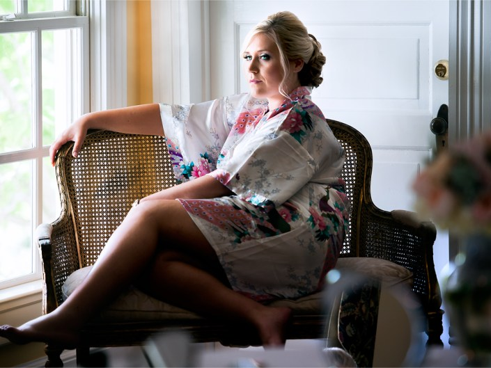 A beautiful bride to be getting ready for her big day. Wedding photography in Sanford, NC by Lizzy Davis.