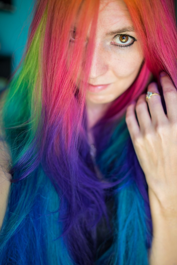 Rainbow Hair by Lizzy Davis.