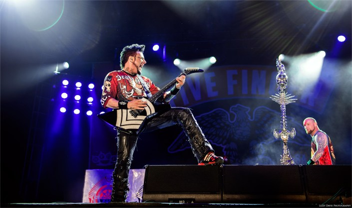 Guitarist Jason Hook of Five Finger Death Punch at Carolina Rebellion 2016. Festival photographer Lizzy Davis.