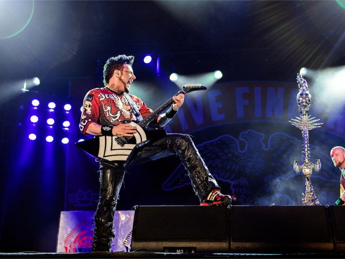 Guitarist Jason Hook of Five Finger Death Punch at Carolina Rebellion 2016. Festival photographer Lizzy Davis.
