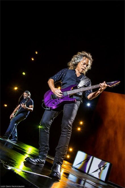 Metallica lead guitarist Kirk Hammett live show 2017. ©Lizzy Davis Photography