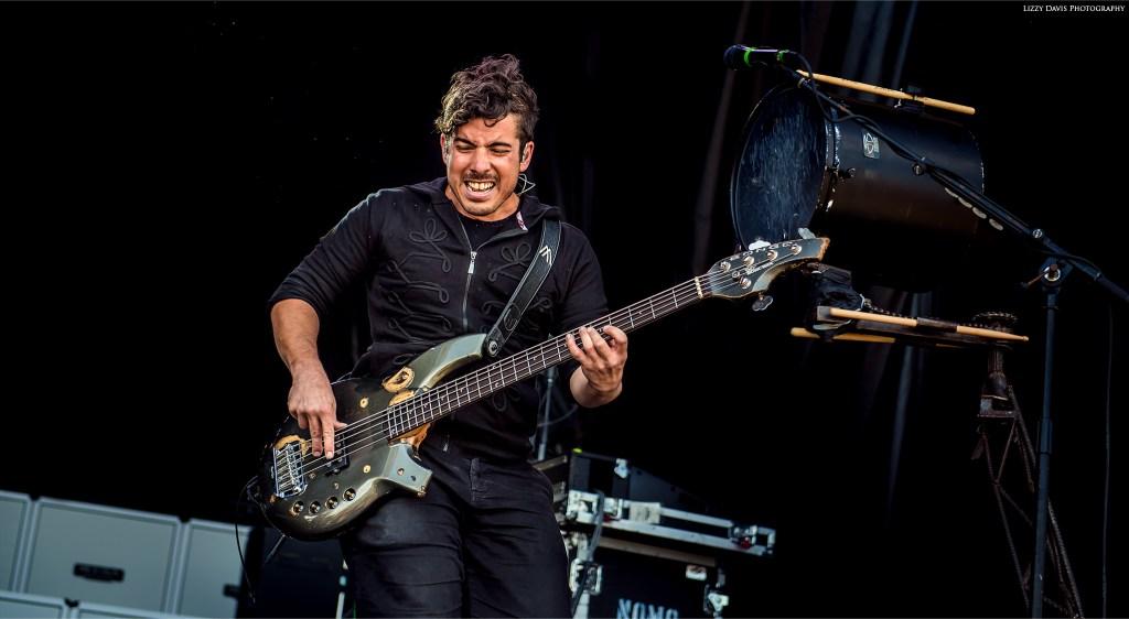 Daniel Oliver, bassist of Nothing More band at Carolina Rebellion 17. ©Lizzy Davis Photography