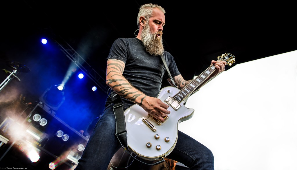 In Flames guitarist Bjorn Gelotte. Photo by ©Lizzy Davis Photography.