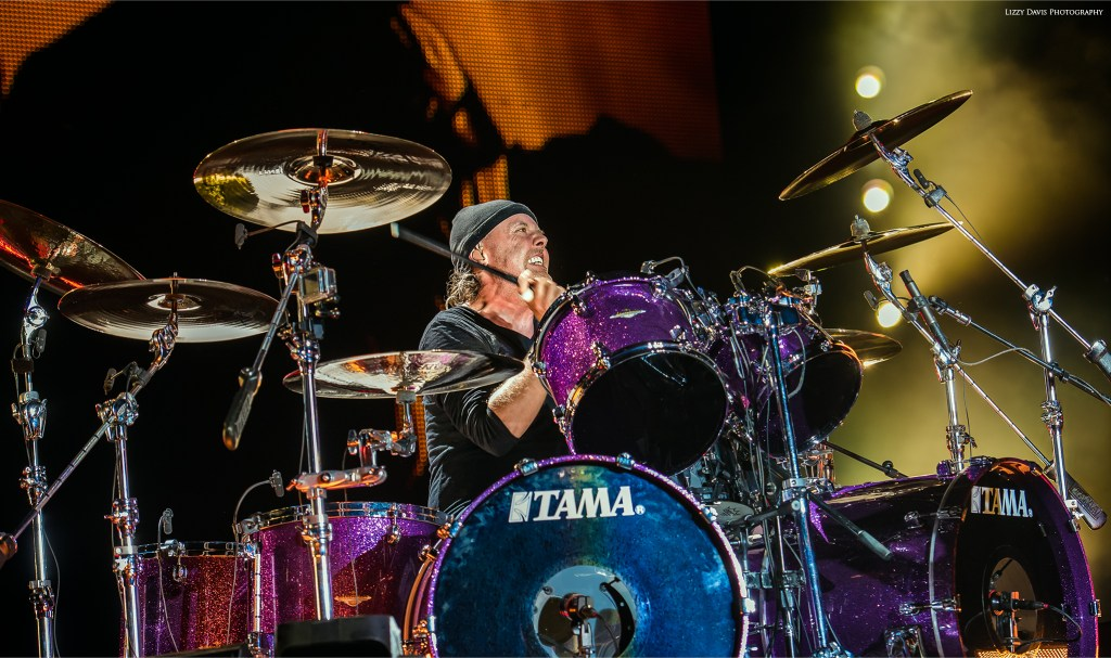 Lars Ulrich, drummer of Metallica. Pictures by ©Lizzy Davis Photography.