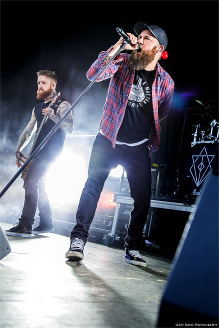 Anders Friden at Carolina Rebellion. Pictures of In Flames by ©Lizzy Davis Photography.