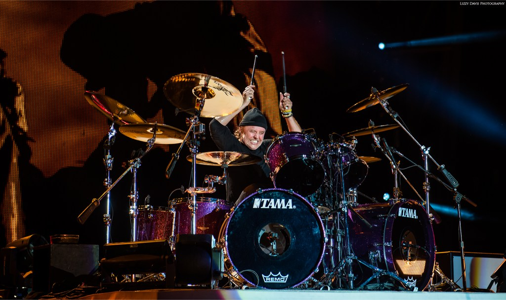 Metallica drummer Lars Ulrich at Rock on the Range 2017. ©Lizzy Davis Photography