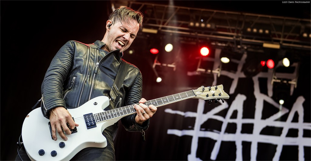 Jerry Horton, Papa Roach guitarist at Carolina Rebellion. ©Lizzy Davis Photography