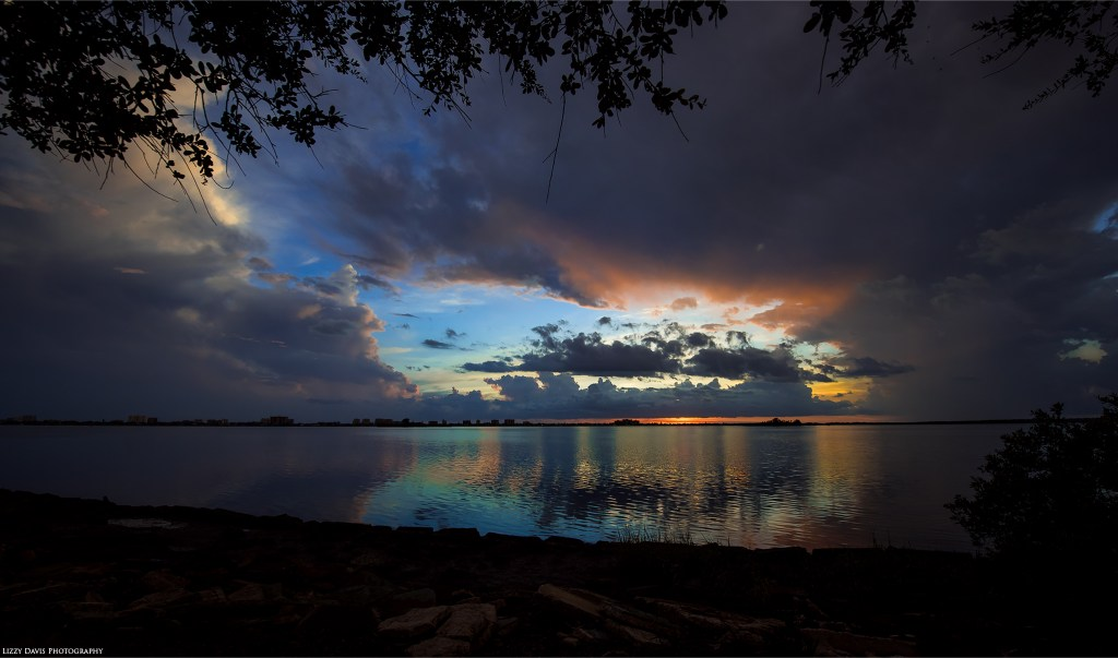 Beautiful sunset over Edgewater Drive Park in Clearwater, FL. ©Lizzy Davis Photography
