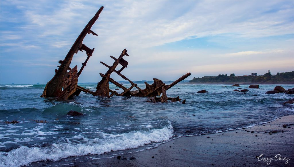 Photo of the Wreck of Gairlock by Lizzy Davis photography.