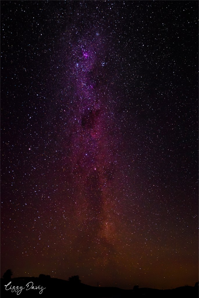 Colorful Milky Way galaxy. | Night photography by Lizzy Davis.
