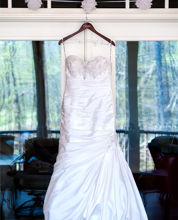 Wedding photography of a stunning gown.