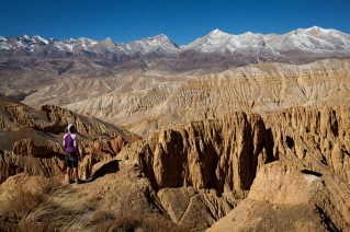 contemplating the awesome landscape of Mustang. © Richard Bull