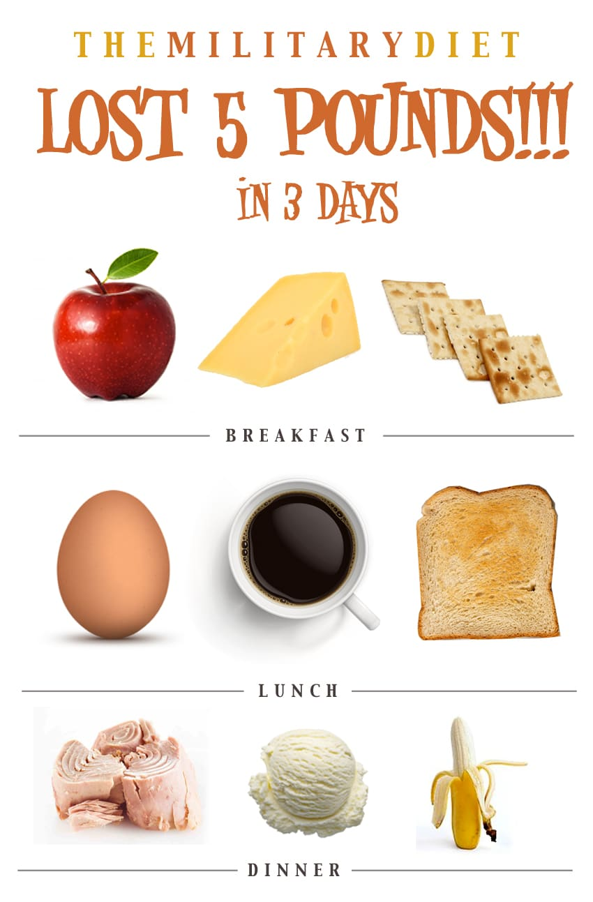 3 Day Military Diet Menu Substitutions