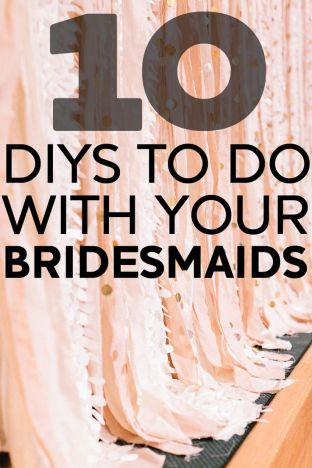 DIY bridemaids