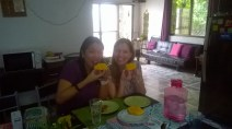 My good friend Es Lu and our both Passion: Eating Mango!