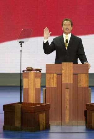Arnold preaching