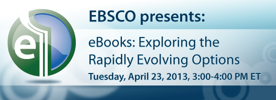 eBooks 550x200 322 eBooks: Exploring the Rapidly Evolving Options