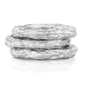 Silver Stackable Ring Banyan Tree series- LJD jewelry designs by Laura Jackowski-Dickson