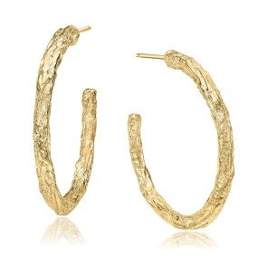 gold large hoop earrings,banyan tree series