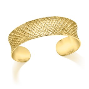 Gold Sacred Geometry Cuff- LJD jewelry designs by Laura Jackowski-Dickson