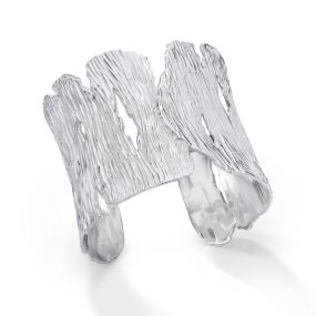 Silver Seagrass Cuff- LJD jewelry designs by Laura Jackowski-Dickson