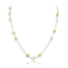 Baroque Pearl Necklace P-117, LJD Designs Laura Jackowski-Dickson