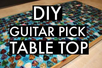 DIY Guitar Pick Table Top