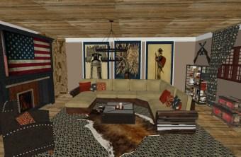 Patriotic Living Room: Happy 4th!