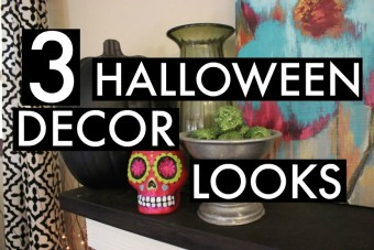 3 Different Halloween Decor Looks