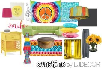 """Sunshine"" eDesign Board- Interior Decor Inspiration"