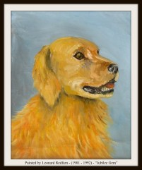 LEONARD REDFARN - JUBILEE GEM DOG - TEXT & FRAME