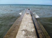 CENTURY PARK LORAIN - 6-1-2016 WAVE BREAKING MIDDLE OF PIER