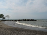 CENTURY PARK LORAIN - 6-1-2016 WAVE BREAKING ONTO SHORE