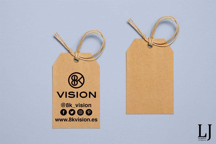 Etiquetas de ropa impresas