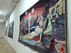 Tapiserije Grejsona Perija u Novom Sadu. Foto Ljiljana Maletin