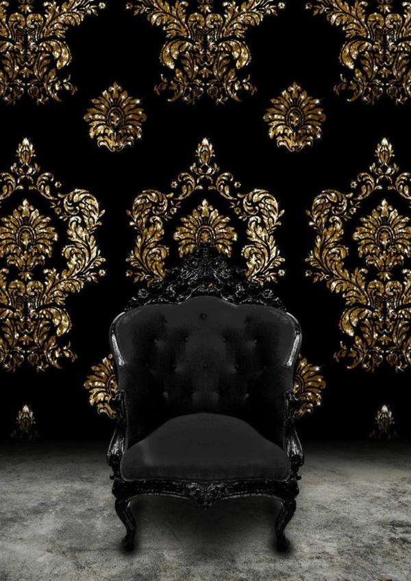 papier peint baroque style de l