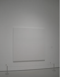 white paint on white canvas