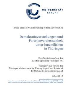 Studie: Demokratievorstellungen und Parteienverdrossenheit unter Jugendlichen in Thüringen