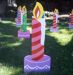 Candles from Greetings by the Yard, Flamingo Surprise, Cards by the Yard