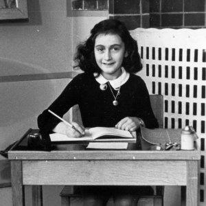 Anne Frank at Desk 1