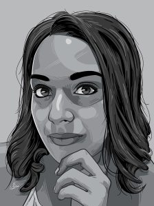 Kriya Gangiah Greyscale Portrait