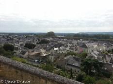 Utsikt österut över staden Chinon.