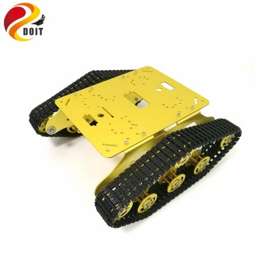 DOIT TS300 Tracked Robot Smart Car Platform with Damping Effect System for Arduino Raspberry Pi DIY