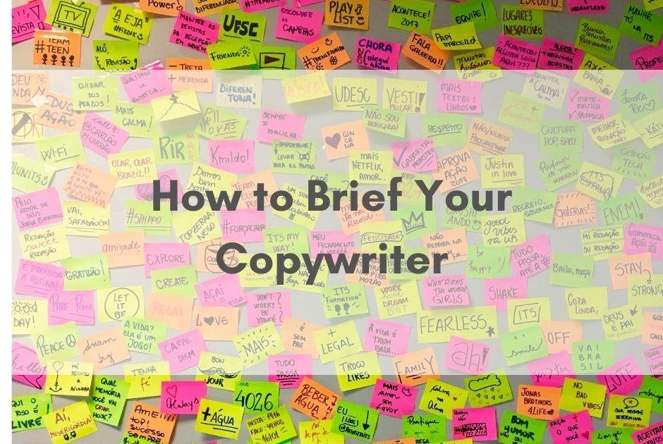 how to brief your nottingham copywriter