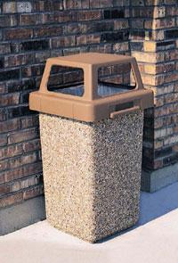 Concrete Trash Receptacles Concrete Waste Receptacle