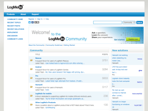 BEFORE: community home page