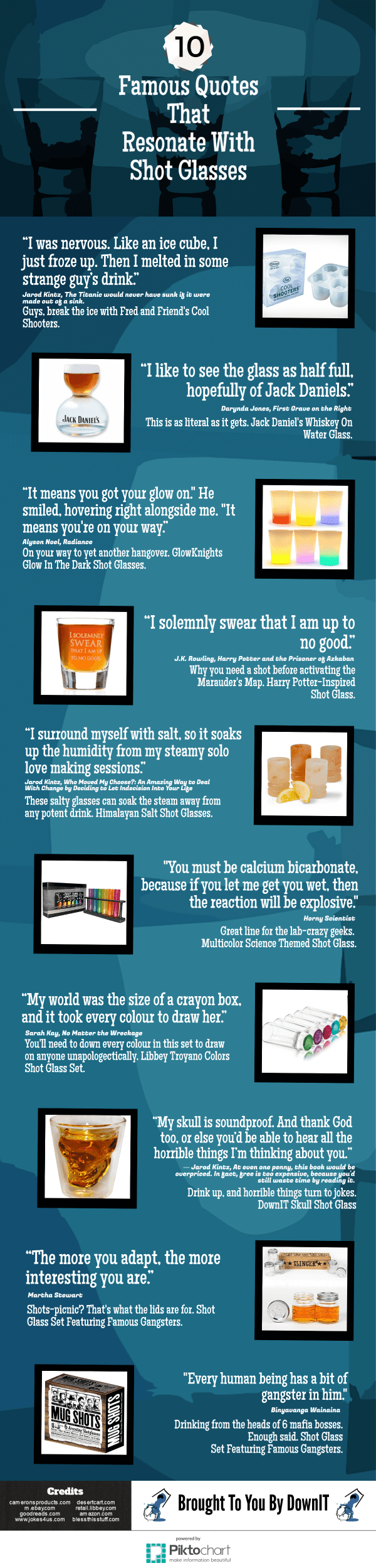 10 Famous Quotes That Resonate With Shot Glasses Infographic